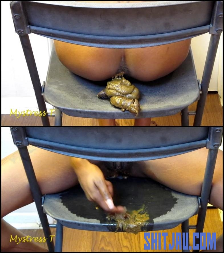 [Special #167] Ebony girl pooping on black chair (2018/FullHD/436 MB) 111.0167_BFSpec-167